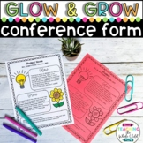 Glow and Grow Parent Teacher Conference Form Editable