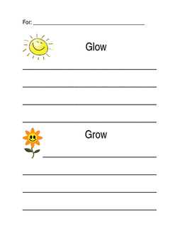 Glow and Grow Template