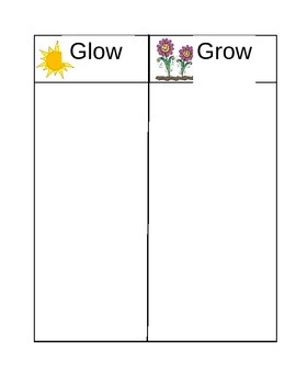 Glow and Grow Writing Chart
