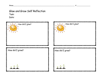 Glow and Grow ~ a thoughtful classroom idea