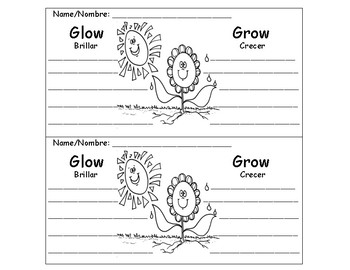 Glow and Grow (teacher conference & comments sheet)