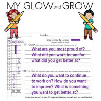 Glow and Grow End of Unit Reflection Page