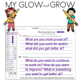 Glow and Grown End of Unit Reflection Page