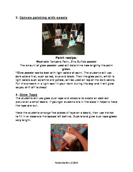 Glow in the Dark Art Lesson Plan
