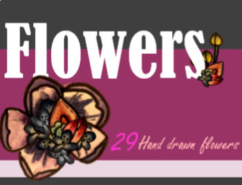 Flowers, Water color, hand-drawn, May, Clipart, Images, Illustrations