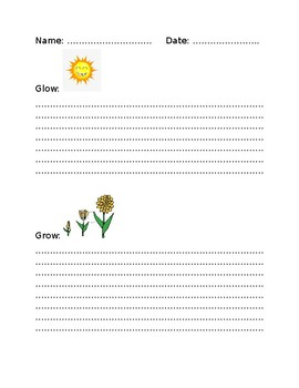 Glows and Grows Sheet