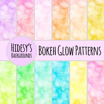 Glowy Bokeh Backgrounds / Digital Papers / Patterns Clip Art for Commercial Use
