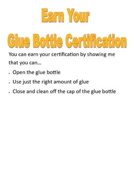 Glue Bottle Certification