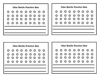 Glue Bottle Practice Box