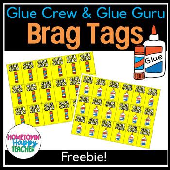 Glue Brag Tag