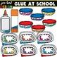 Glue Clipart ( glue bottles, glue sticks, &  glue sponges)