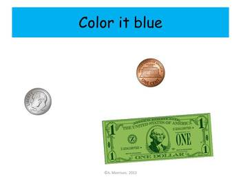 Glue Counting Coins Practice - Watch, Think, Color Mystery Pictures