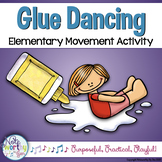 Glue Dancing Cue Cards - Elementary Movement Activity
