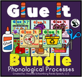 Glue It! BUNDLE: Phonological Processes NO-PREP Speech Therapy