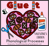 Glue It! Heart Edition! Phonological Processes NO-PREP Speech Therapy
