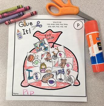 Glue It! Santa's Sack! Phonological Processes NO-PREP Speech Therapy