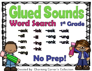 Glued Sounds ~ Word Search