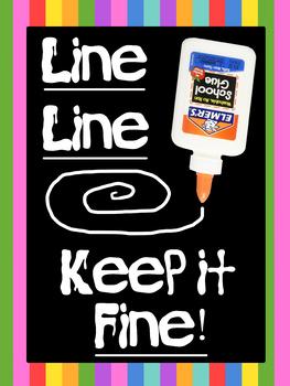 Glue Line Poster