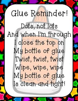 Glue & Pencil Rhyme Printables