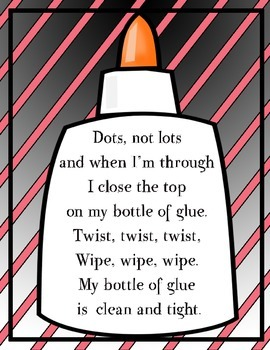 Glue Poster with Pink Stripes