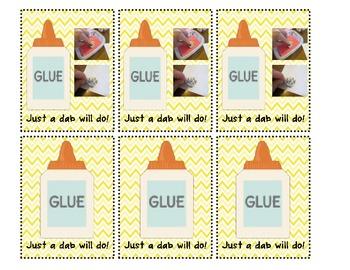 Glue Sponge LABELS