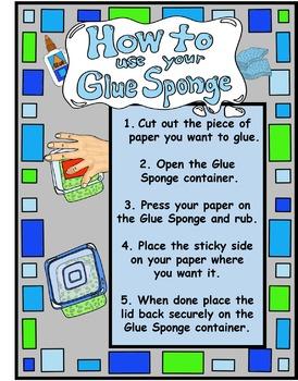 Glue Sponge Labels