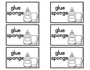 Glue sponge labels by sammy morris teachers pay teachers glue sponge labels ccuart Images