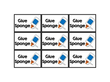 Glue Sponge Labels Freebie