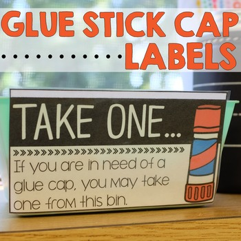 Glue Stick Cap Bin Labels [FREEBIE]