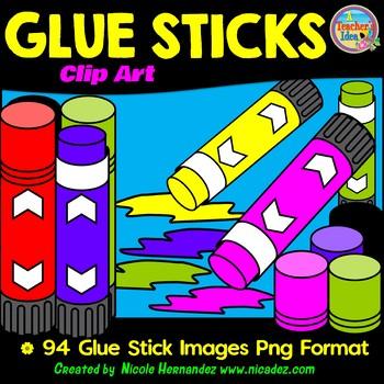 Glue Sticks Clip Art for Teachers