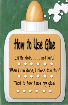 Glue Use Poster