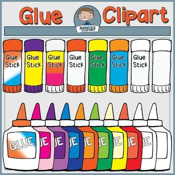 {Freebie} Glue and Glue Sticks Clipart