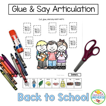 Glue and Say Articulation: Back to School