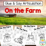 Glue and Say Articulation: On the Farm