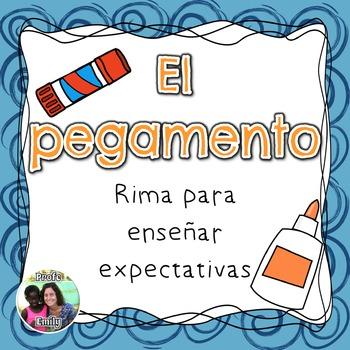 Classroom management tools: Spanish glue use poem