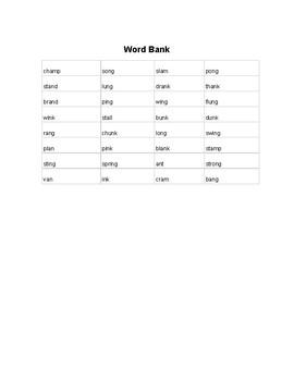 Glued Sound Word Sort