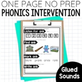 Glued Sounds Activities, Phonics all, am, an, -ng &-nk {Guided Reading Warm Up}