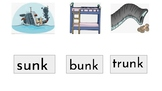 Glued Sounds / Fun Phonic with unk, onk, ink, ank, ung, ong, ing and ang