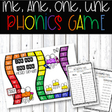 Glued Sounds: Ink, Ank, Onk, Unk Phonics Game