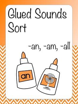 Glued Sounds Sort -an, -am, -ing