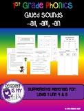 First Grade Phonics Unit: Glued Sounds -all, -am, an  Level 1 Unit 4/5!