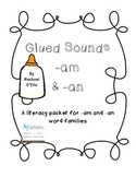 Glued Sounds Packet {Word Families -am & -an}