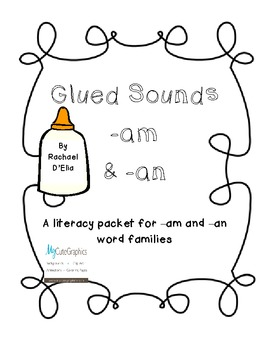 Glued Sounds Packet {Word Families -am & -an} by Sped and Sprinkles