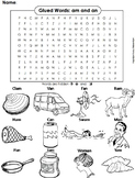 Glued Sounds: am and an Digraphs Word Search/ Coloring Sheet (Phonics Worksheet)