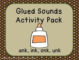 Glued Sounds (ank, ink, onk, unk) Activity Pack