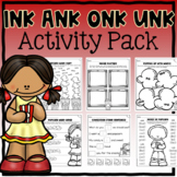 Glued Sounds (ink, ank, onk, unk) Activities