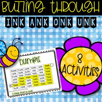 Glued Sounds (ink, ank, onk, unk) Worksheets