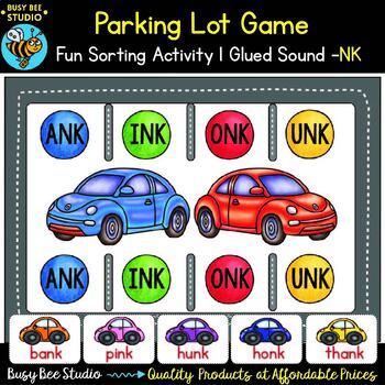 Glued Sounds (-nk) Parking Lot Game
