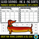 Glued Sounds (-nk, -ng) Sorts | Cut and Paste Worksheets