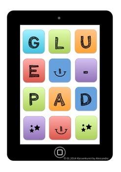 Gluepad / Klebepad in English and German